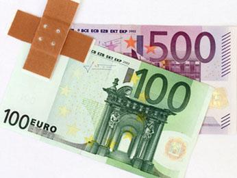 Pflaster und Euroscheine