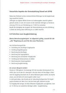 Flexirenten Ratgeber: Ein-Blick in die Broschüre: Einmalzahlung